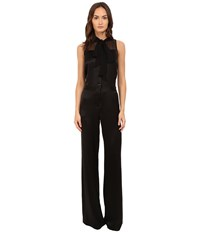 Prabal Gurung Tie Neck Jumpsuit Black Women's Jumpsuit And Rompers One Piece