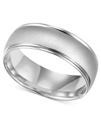 Macy's Men's 10K White Gold Ring 6 1 2Mm Wedding Band