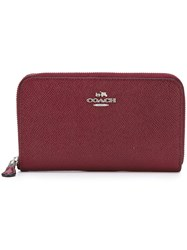 Coach Zip Around Wallet Red
