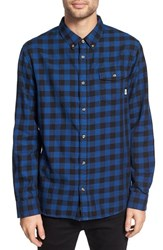 Vans Men's 'Eckleson' Trim Fit Gingham Flannel Woven Shirt Black True
