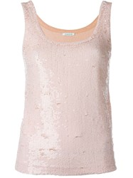 P.A.R.O.S.H. Sequin Tank Pink And Purple