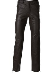 Jean Paul Gaultier Vintage Leather Trousers Brown