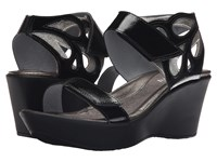 Naot Footwear Intrigue Black Luster Leather Silver Luster Leather Women's Sandals