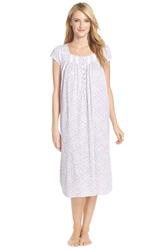 Eileen West 'Meadow' Cotton Ballet Nightgown White Ground Pink Ditsy