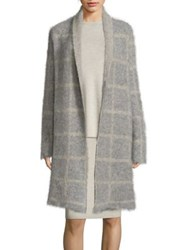 Eileen Fisher Checkered Wool Blend Jacket Moon