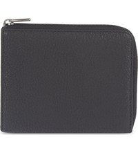 Reiss Hunt Zipped Leather Wallet Black