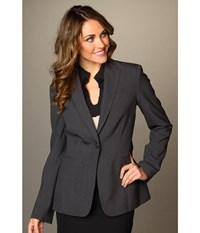 Calvin Klein 1 Button Jacket Charcoal Melange Women's Jacket Gray