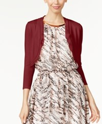 Thalia Sodi Chiffon Trim Bolero Cardigan Only At Macy's Napa Wine