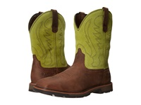 Ariat Groundbreaker Wide Square Toe H20 St Palm Brown Bright Light Cowboy Boots