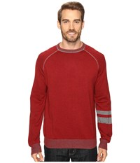 Agave Folsom Long Sleeve Supima Fine Gauge Rosewood Men's Long Sleeve Pullover Red