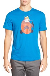 Original Penguin 'Big Fish' Graphic T Shirt Snorkel Blue