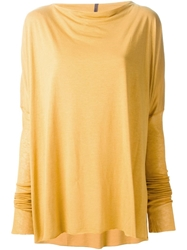Rick Owens Lilies Loose Fit Long Sleeve T Shirt Yellow And Orange