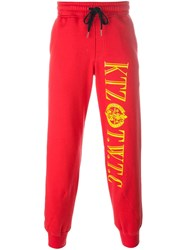 Ktz Logo Print Sweatpants Red
