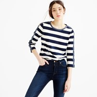 J.Crew Rugby Striped T Shirt With Back Zipper