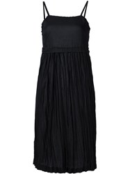 Comme Des Gara Ons Tricot Pleated Spaghetti Strap Dress Black