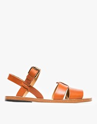 A.P.C. Massada Sandals Hazelnut