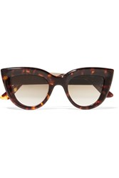 Ellery Quixote Cat Eye Acetate And Gold Tone Sunglasses Tortoiseshell