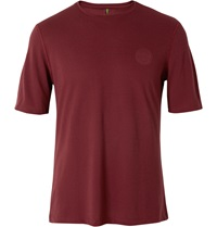 Iffley Road Cambrian Dri Release Crew Neck Running T Shirt Burgundy