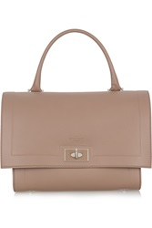 Givenchy Small Shark Bag In Taupe Textured Leather