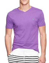 Polo Ralph Lauren Jersey V Neck Tee Purple