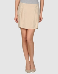 Roberta Furlanetto Mini Skirts Beige