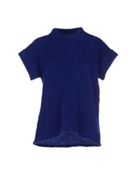 Armani Collezioni Knitwear Turtlenecks Women Blue