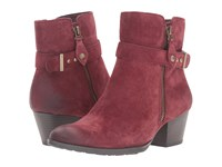Earth Royal Water Resistant Wine Suede Women's Boots Burgundy