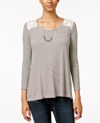 American Rag High Low Lace Back Top Only At Macy's Light Pink Combo