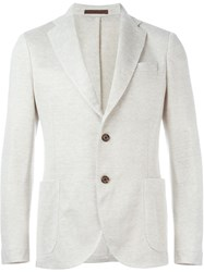 Eleventy Notched Lapel Blazer Nude And Neutrals