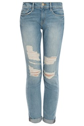 Frame Denim Le Garcon Destroyed Jeans