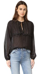 Matin St. Jean Ruffle Full Sleeve Top Black