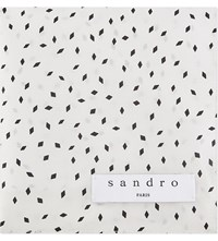 Sandro Diamond Pocket Square White