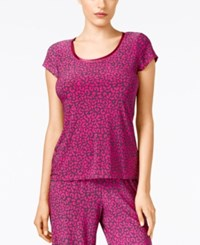 Alfani Leopard Print Pajama Top Only At Macy's Exotic Leo