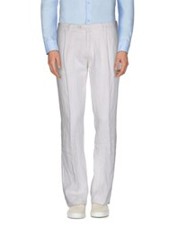 Luigi Borrelli Napoli Trousers Casual Trousers Men White