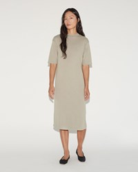 Moderne Jean Mockneck Dress Faded Khaki