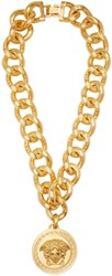 Versace Gold Medusa Medallion Necklace