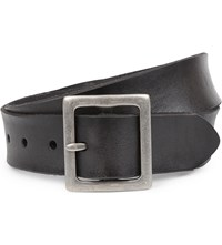 Paige Harper Leather Belt Black