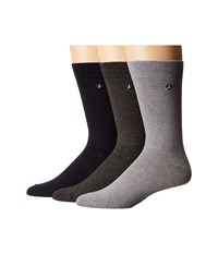 Sperry Casual Crews 3 Pair Pack Marl Griffin Gray High Rish Assorted Men's Crew Cut Socks Shoes Multi