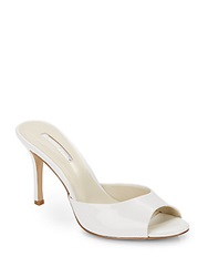 Bcbgeneration Disco Faux Patent Leather Mules White