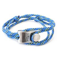 Anchor And Crew Falmouth Rope And Silver Bracelet Solid Blue