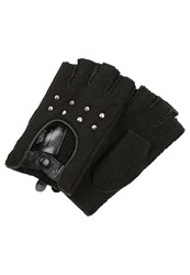 Karl Lagerfeld Fingerless Gloves Black