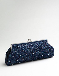 Carlo Fellini Sofia Clutch Handbag Navy