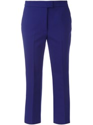 Msgm Flared Cropped Trousers Blue