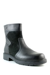 Santana Canada Salvatore Weatherproof Leather Faux Fur Lined Boot Black