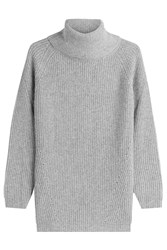 Woolrich Turtleneck Pullover With Wool And Mohair Grey