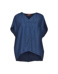 7 For All Mankind Blouses Slate Blue