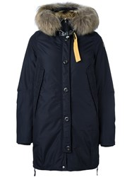 Parajumpers Fur Lined Parka Coat Blue