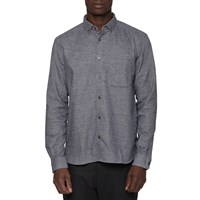 Ymc Navy Grey Jan And Dean Shirt Blue