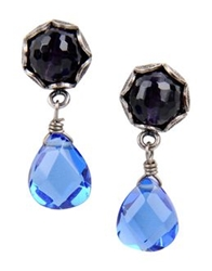 First People First Earrings Blue