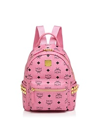 Mcm Stark Mini Backpack Pink